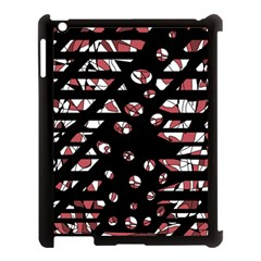 Red freedam Apple iPad 3/4 Case (Black)