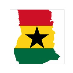 Flag Map of Ghana Small Satin Scarf (Square)