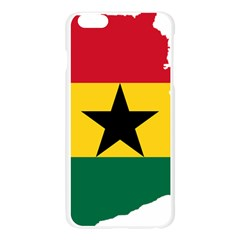 Flag Map of Ghana Apple Seamless iPhone 6 Plus/6S Plus Case (Transparent)