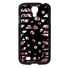 Red freedam Samsung Galaxy S4 I9500/ I9505 Case (Black)