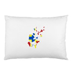 Flag Map of Orkney Islands  Pillow Case (Two Sides)
