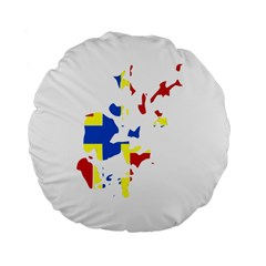 Flag Map of Orkney Islands  Standard 15  Premium Round Cushions