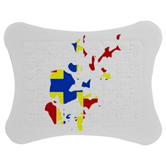 Flag Map of Orkney Islands  Jigsaw Puzzle Photo Stand (Bow)