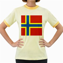 Flag of Orkney Women s Fitted Ringer T-Shirts
