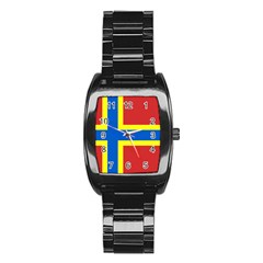 Flag of Orkney Stainless Steel Barrel Watch