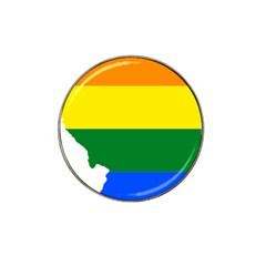 Lgbt Flag Map of Illinois Hat Clip Ball Marker