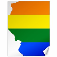 Lgbt Flag Map of Illinois Canvas 36  x 48