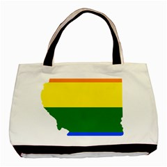 Lgbt Flag Map Of Illinois Basic Tote Bag (two Sides)