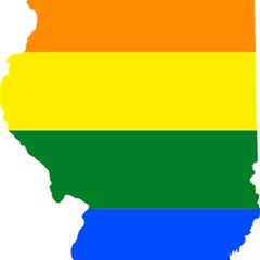 Lgbt Flag Map of Illinois Magic Photo Cubes