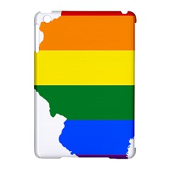 Lgbt Flag Map of Illinois Apple iPad Mini Hardshell Case (Compatible with Smart Cover)