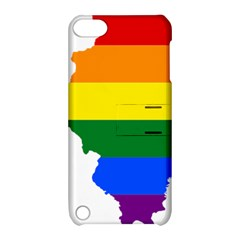 Lgbt Flag Map of Illinois Apple iPod Touch 5 Hardshell Case with Stand