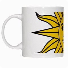 Uruguay Sun of May White Mugs