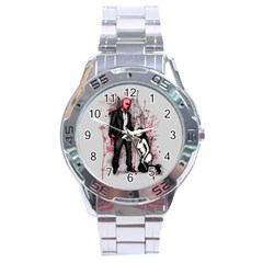 Say Please Stainless Steel Analogue Watch