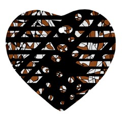 Brown freedom  Ornament (Heart)