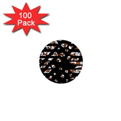 Brown freedom  1  Mini Buttons (100 pack)