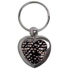 Brown freedom  Key Chains (Heart)