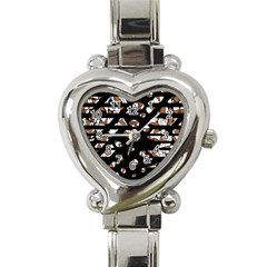 Brown freedom  Heart Italian Charm Watch
