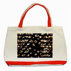 Brown freedom  Classic Tote Bag (Red)