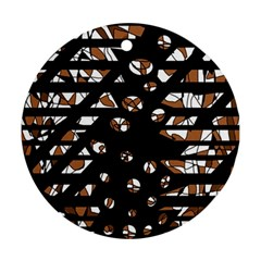 Brown freedom  Round Ornament (Two Sides)