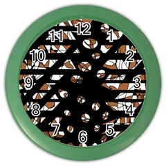 Brown freedom  Color Wall Clocks