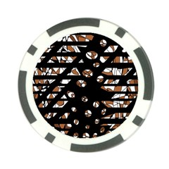 Brown freedom  Poker Chip Card Guards