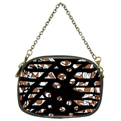 Brown freedom  Chain Purses (Two Sides)