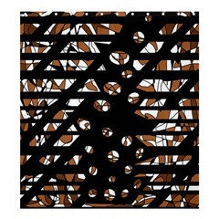 Brown freedom  Shower Curtain 66  x 72  (Large)