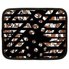 Brown freedom  Netbook Case (XL)