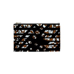 Brown freedom  Cosmetic Bag (Small)