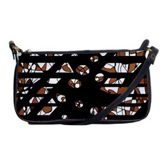 Brown freedom  Shoulder Clutch Bags