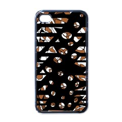 Brown freedom  Apple iPhone 4 Case (Black)