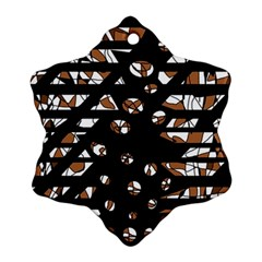 Brown freedom  Snowflake Ornament (2-Side)