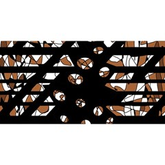 Brown freedom  YOU ARE INVITED 3D Greeting Card (8x4)