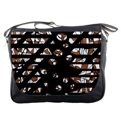 Brown freedom  Messenger Bags