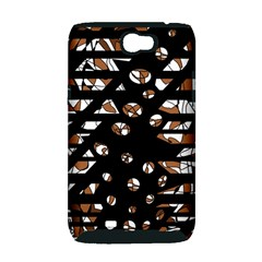 Brown freedom  Samsung Galaxy Note 2 Hardshell Case (PC+Silicone)