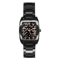 Brown freedom  Stainless Steel Barrel Watch