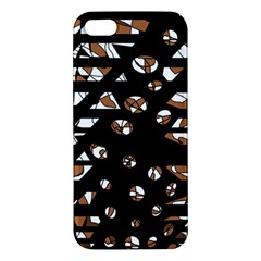 Brown freedom  iPhone 5S/ SE Premium Hardshell Case