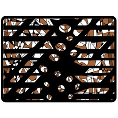 Brown freedom  Double Sided Fleece Blanket (Large)