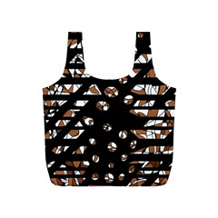 Brown freedom  Full Print Recycle Bags (S)
