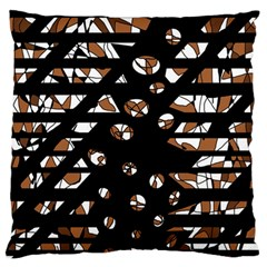 Brown freedom  Large Flano Cushion Case (One Side)