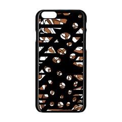 Brown freedom  Apple iPhone 6/6S Black Enamel Case