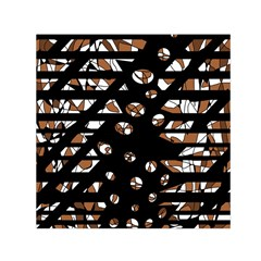 Brown freedom  Small Satin Scarf (Square)