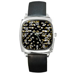Green freedom Square Metal Watch