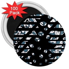 Blue freedom 3  Magnets (100 pack)