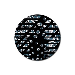 Blue freedom Rubber Round Coaster (4 pack)