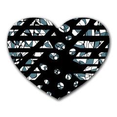 Blue freedom Heart Mousepads