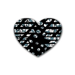 Blue freedom Heart Coaster (4 pack)