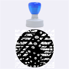 Blue Freedom Rubber Round Stamps (large)