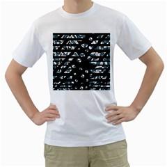 Blue freedom Men s T-Shirt (White)