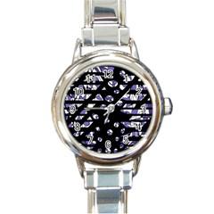 Purple freedom Round Italian Charm Watch